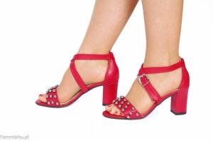 331424ee Gandia malinowe sandały z pazurem